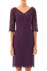 Dolce & Gabbana Vneck Lace Dress - Lyst
