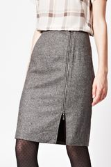 French Connection Pepper Tweed Skirt - Lyst