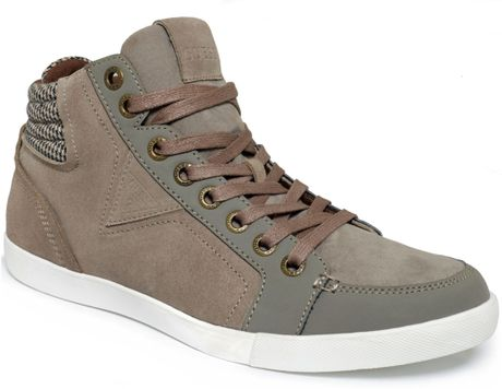 Guess Mens Shoes Jaque Sneakers In Beige For Men Taupe