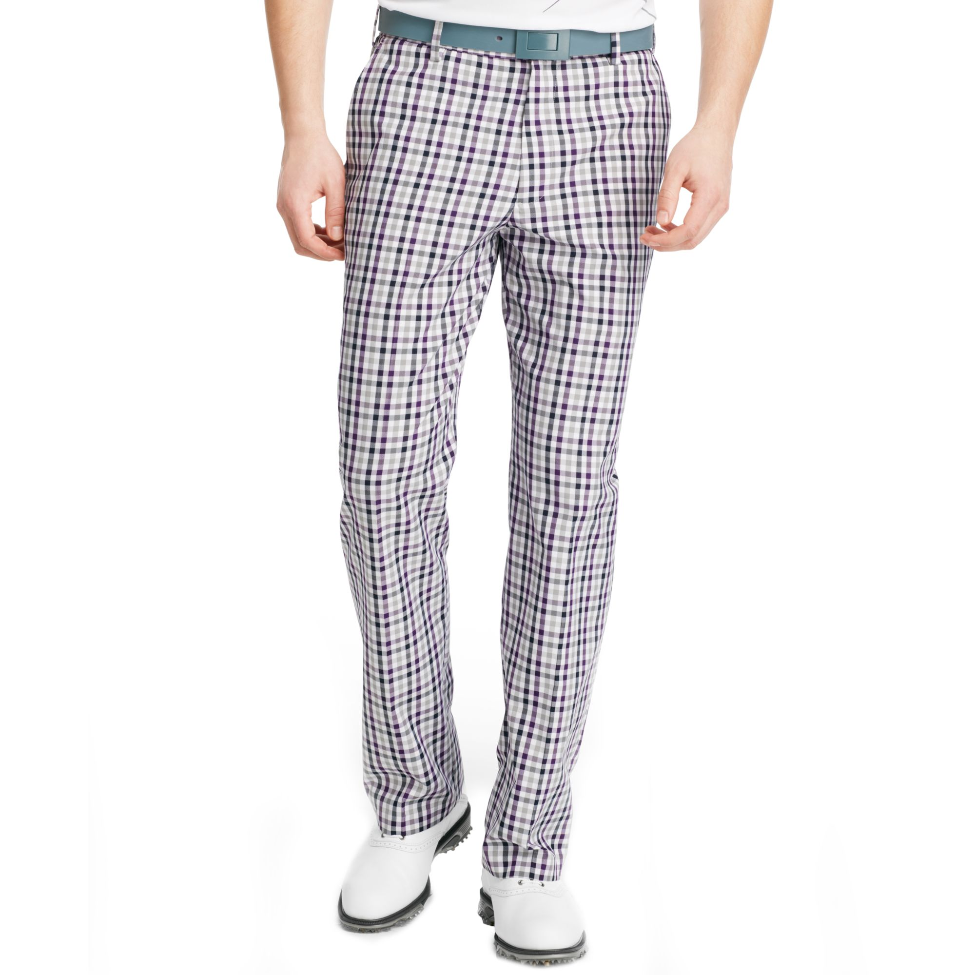 Izod Izod Golf Pants Flat Front Fancy Plaid Pants for Men | Lyst