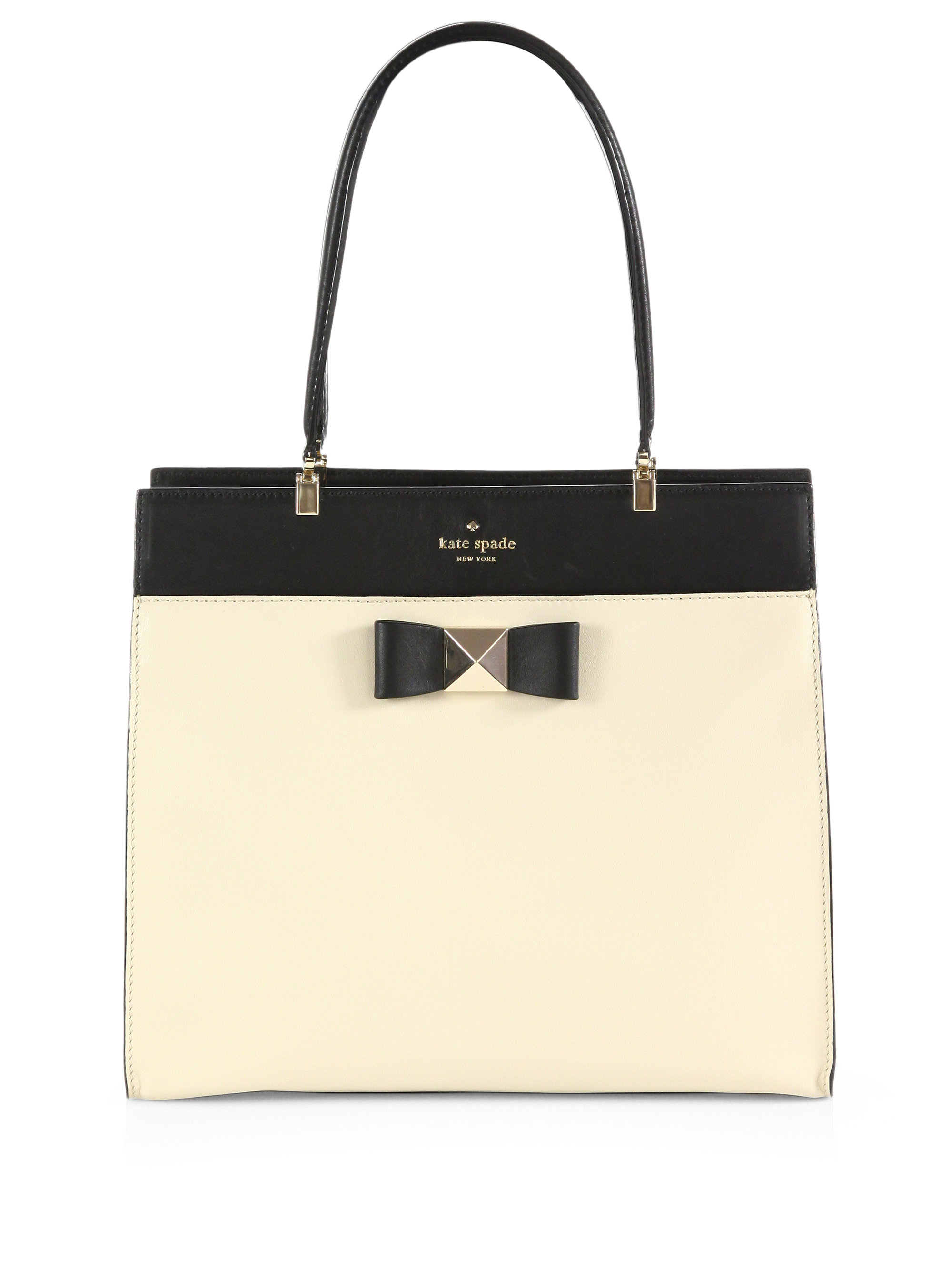Lyst - Kate Spade Bow Terrance Fulton Colour Block Top Handle Bag in ... a20c7e0aa4