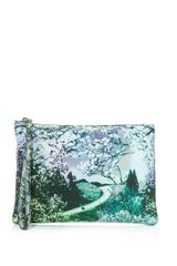 Mary Katrantzou Dijon Blossomprint Leather Clutch - Lyst
