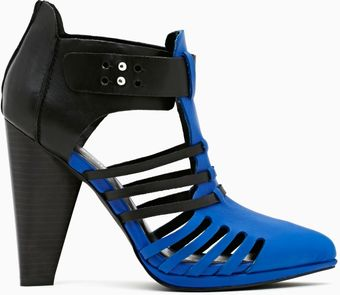 Nasty Gal Reaction Bootie Blue - Lyst