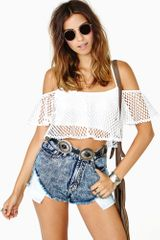 Nasty Gal Float On Crop Top - Lyst