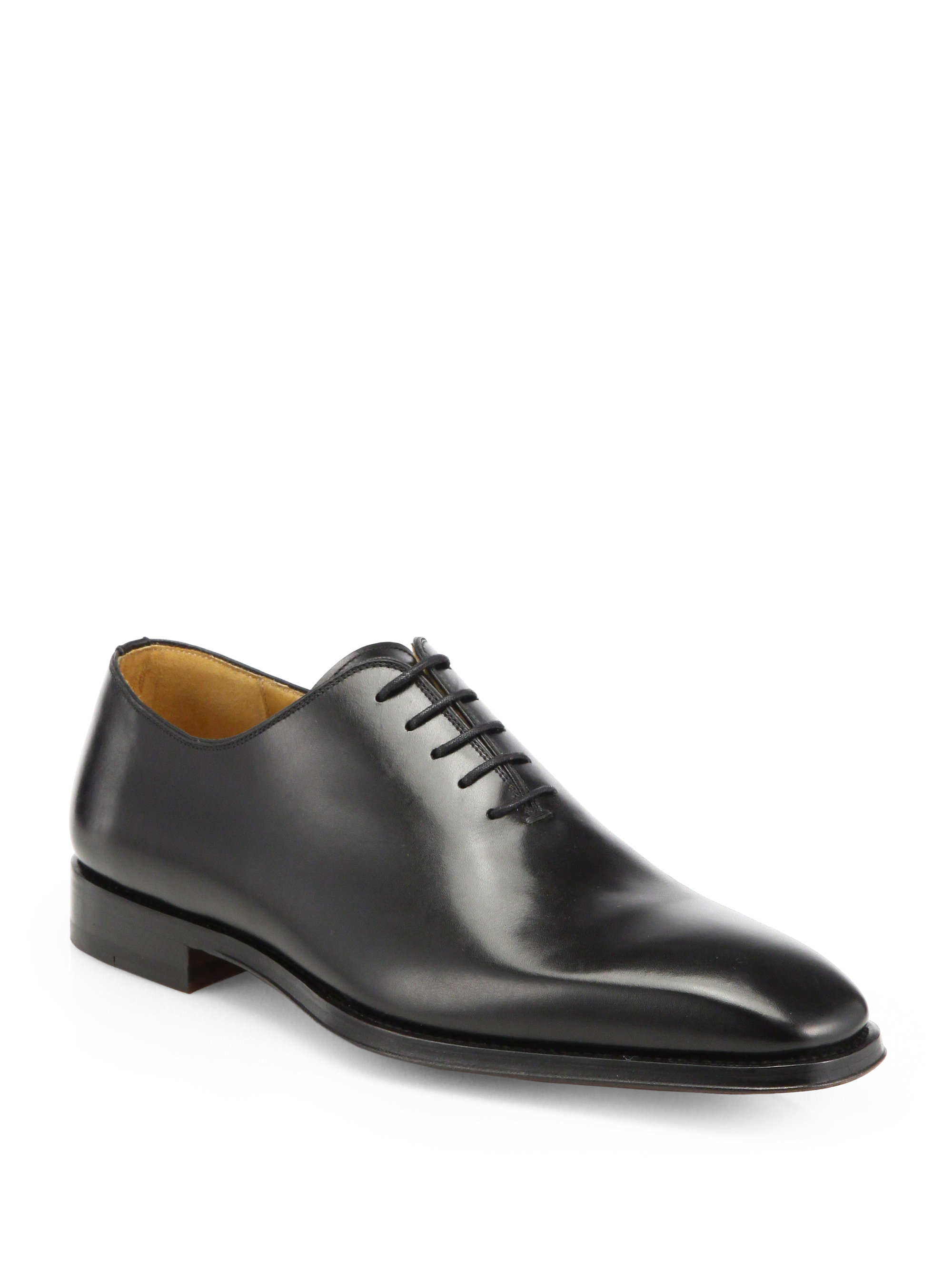 saks fifth avenue collection balmor leather laceup