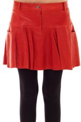 Thakoon Addition Leather Tulip Skirt - Lyst