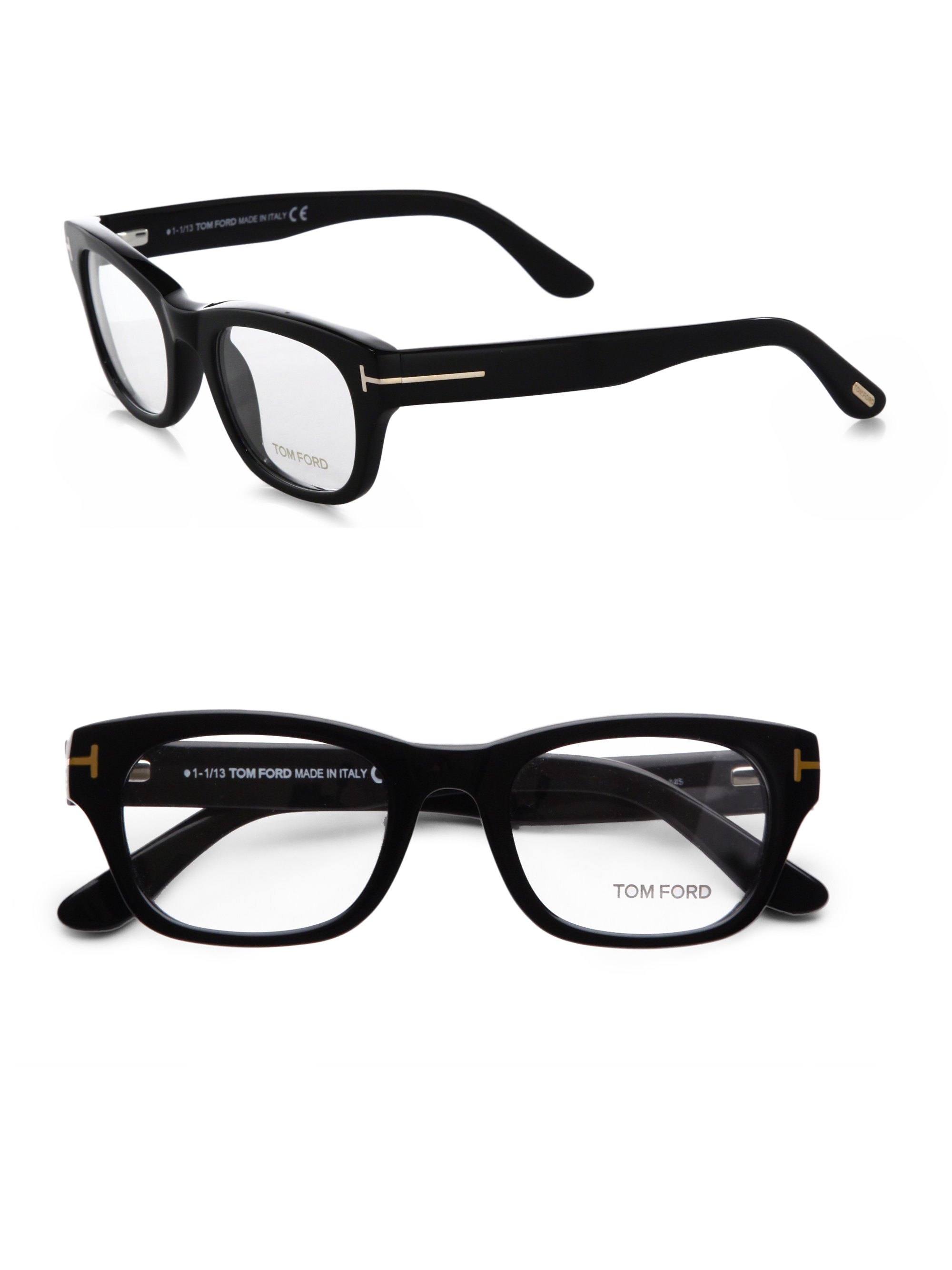 Lyst Tom Ford Thick Square Optical Glasses Black In Black