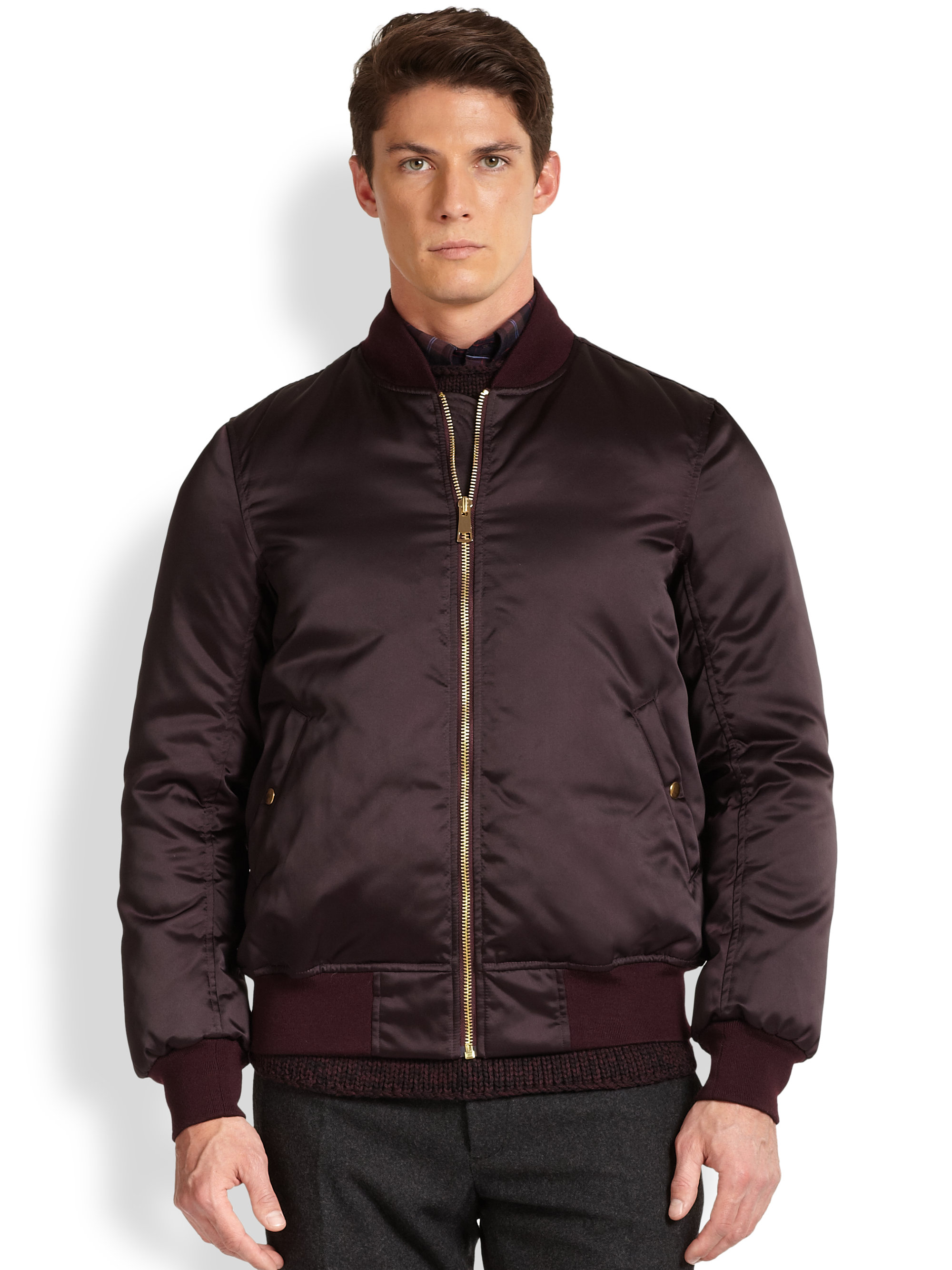 Nylon Bomber Jacket Mens - Coat Nj