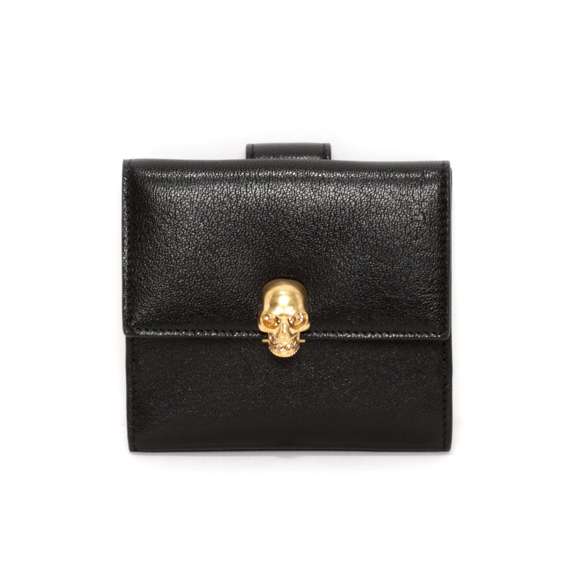 skull wallet - Black Alexander McQueen b5QQiVWkr
