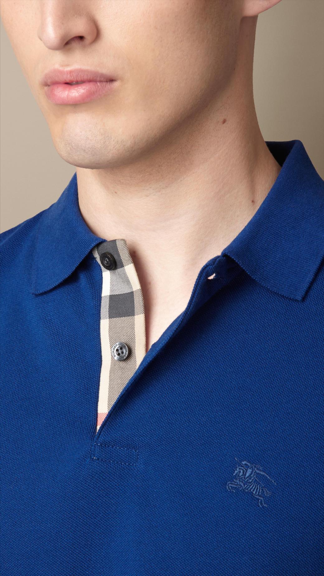 Dark Blue Burberry Polo Shirt