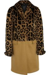 Burberry Prorsum Leopard-print Rabbit and Cashmere-blend Coat - Lyst