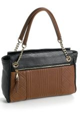 Calvin Klein Colorblock Leather Satchel Bag - Lyst