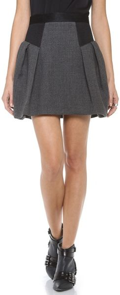 Milly Raquel Flare Skirt - Lyst