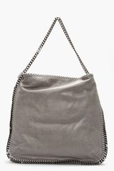 Stella McCartney Light Grey Falabella Hobo Shaggy Deer Tote - Lyst