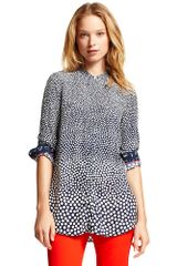 Tommy Hilfiger Gradient Polka Dot Long Sleeve Blouse - Lyst