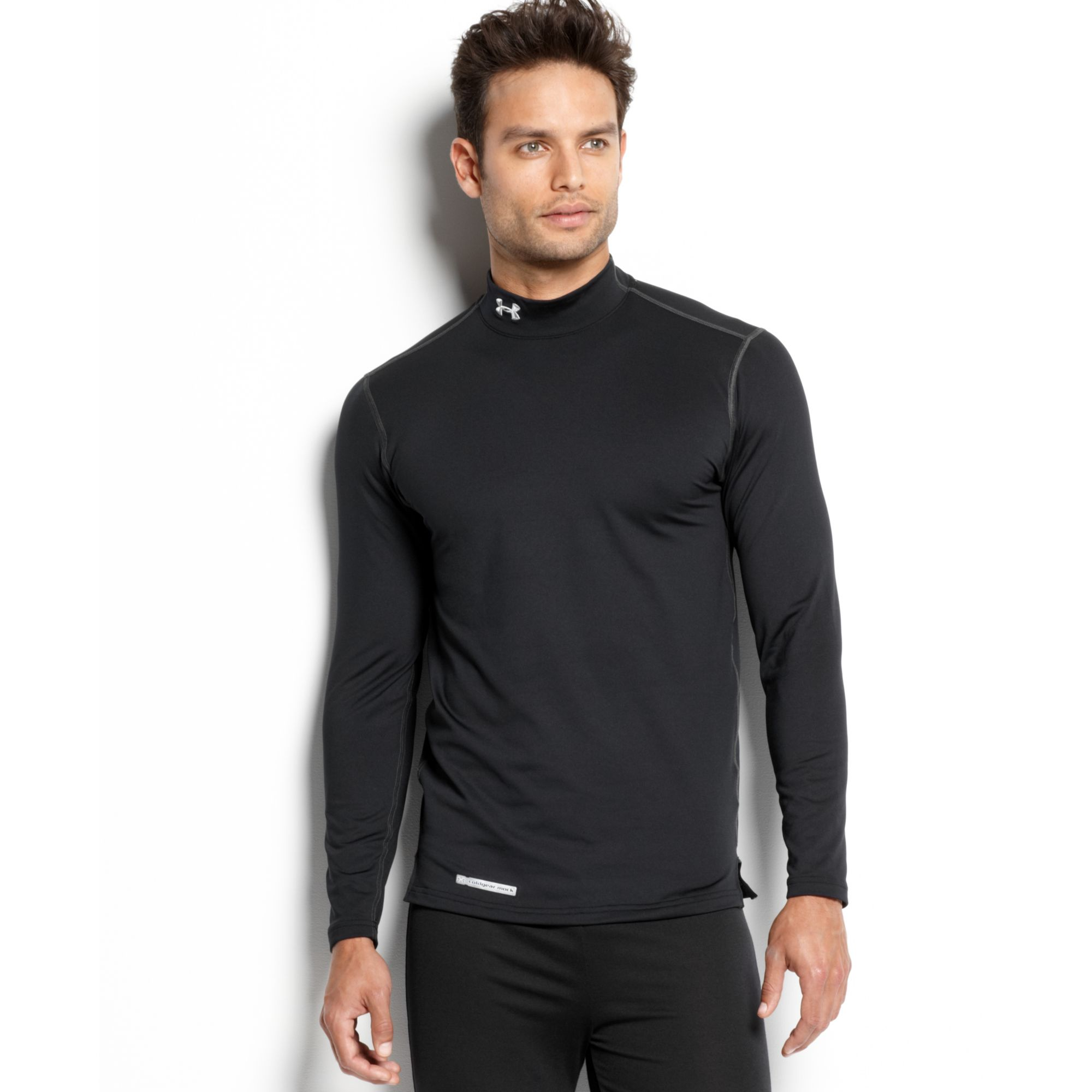Under armour evo coldgear fitted long sleeve mock t shirt for Long sleeve fitted tee shirt