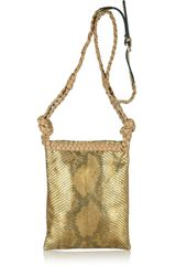 Valentino Metallic Python Shoulder Bag - Lyst