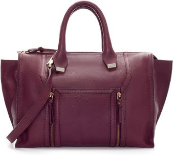 Zara Leather City Bag with Metal Detailing - Lyst