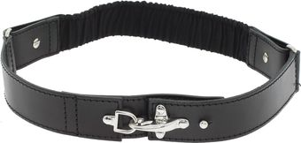 Alessandra Rich Leather Belt with Steel Buckle - Lyst