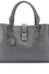 Bottega Veneta Roma Intrecciato Leather Tote - Lyst