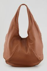 Bottega Veneta Cervo Hobo Bag Medium Brown - Lyst