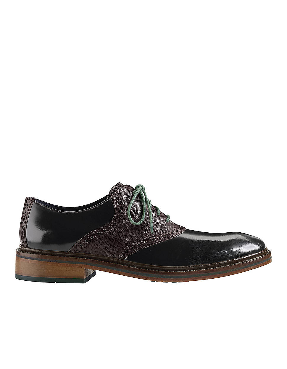 cole haan winter leather saddle shoes in black for lyst