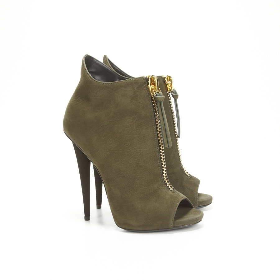 Olive Green Suede Shoes