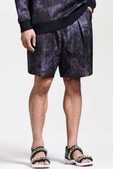 Givenchy Jacquard Pleated Shorts - Lyst