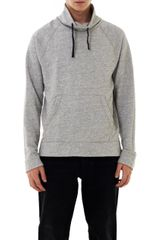 James Perse Funnel Neck Fleece Sweat Top - Lyst