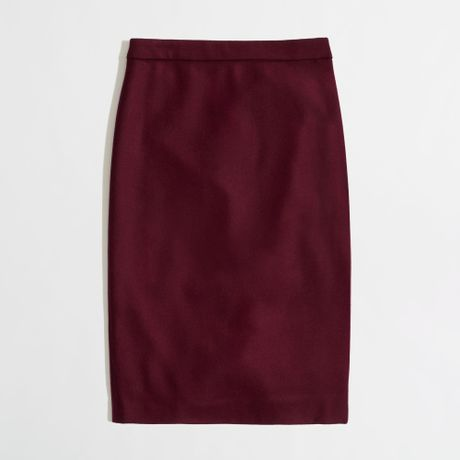 j crew factory pencil skirt in doubleserge wool in