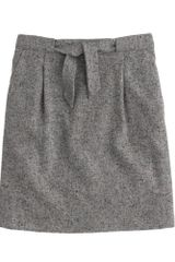 J.Crew Tie Waist Tweed Mini Skirt - Lyst