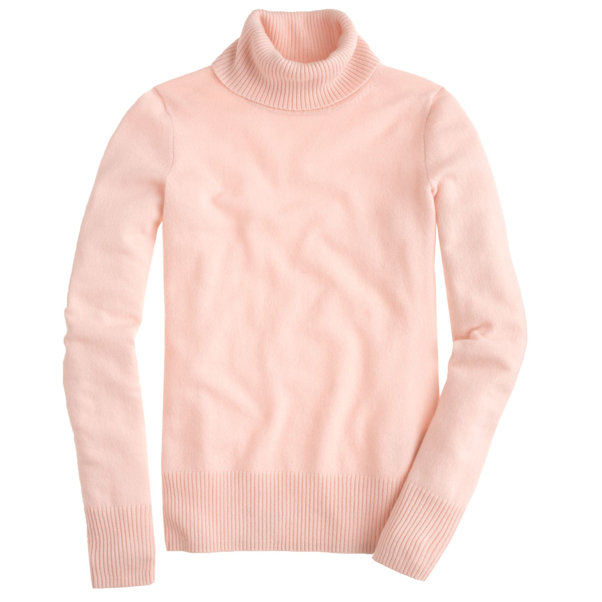 J.crew Collection Cashmere Turtleneck Sweater in Pink | Lyst