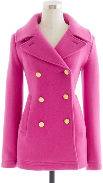 J Crew Petite Majesty Peacoat In Pink Vintage Berry Lyst