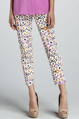 Lafayette 148 New York Indie Dotprint Cropped Pants - Lyst
