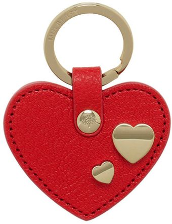 Mulberry Heart Keyring with Heart Rivets - Lyst