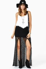 Nasty Gal Faithfull Crochet Maxi Skirt - Lyst