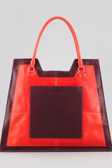 Proenza Schouler Takeout Colorblock Tote Bag Orangered - Lyst