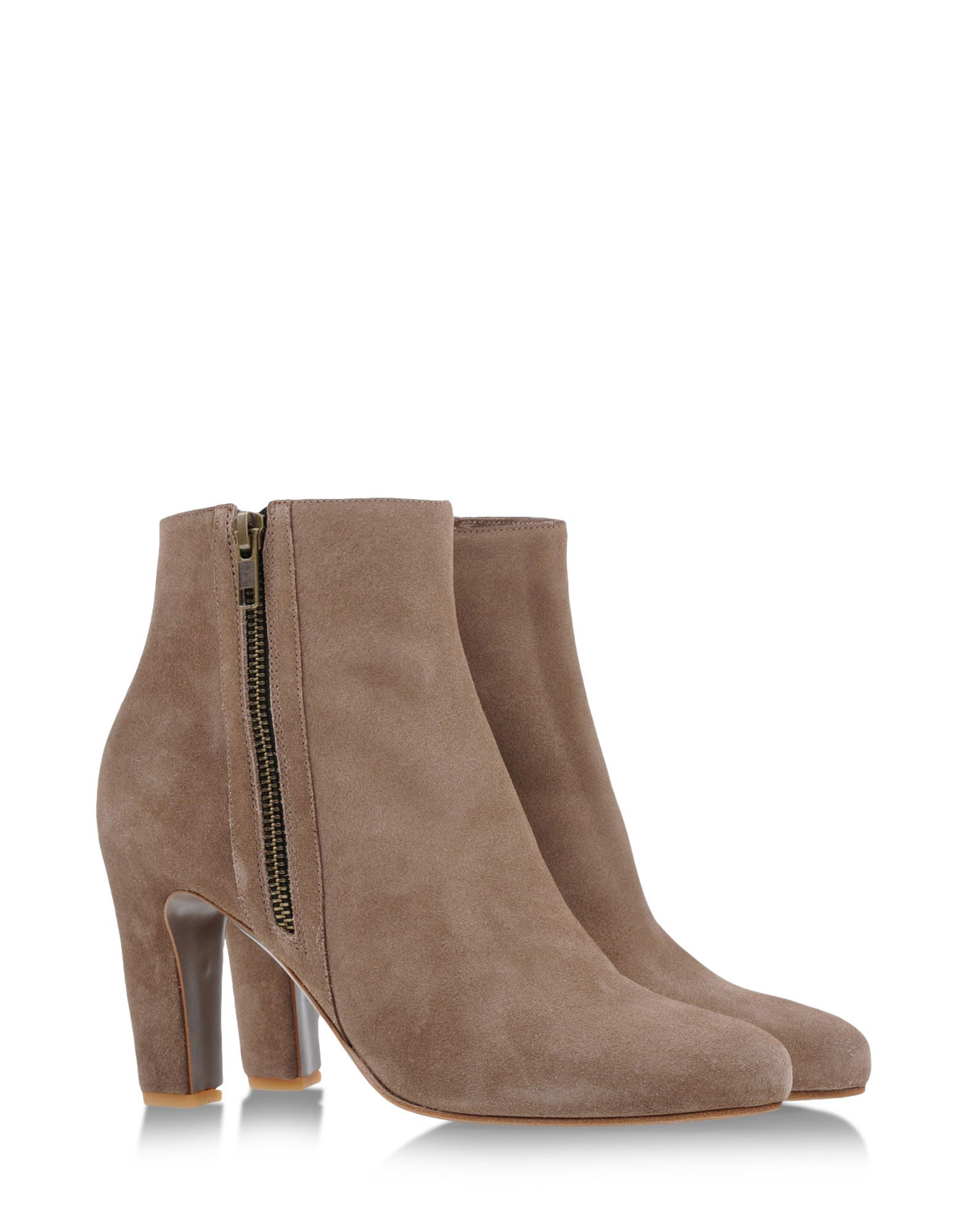 roberto carlo ankle boots in brown khaki lyst