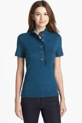 Tory Burch Lidia Short Sleeve Polo - Lyst