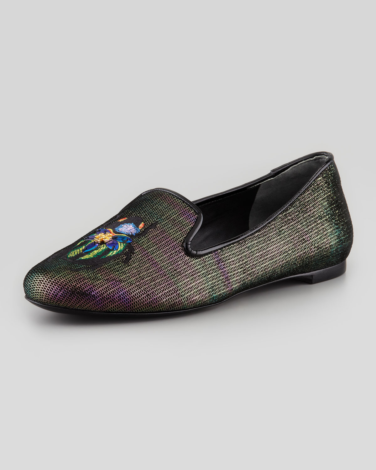 Lyst Tory Burch Cailyn Holographic Beetle Smoking