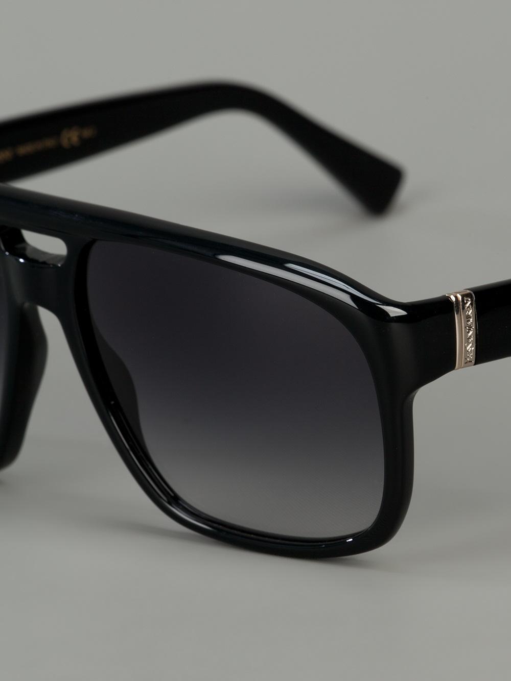 Lyst Saint Laurent Square Frame Sunglasses In Black For Men
