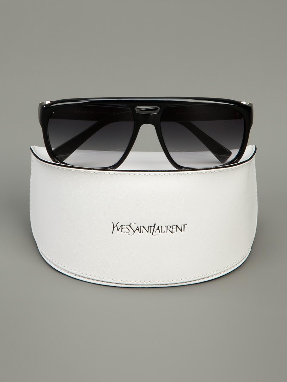 Saint Laurent Square Frame Sunglasses In Black For Men Lyst