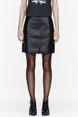 3.1 Phillip Lim Black Nappalan_finished Leather Skirt - Lyst