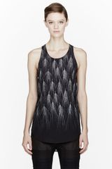 3.1 Phillip Lim Black Wheat Print Geo Tank Top - Lyst