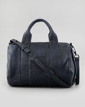 Alexander Wang Rocco Studbottom Satchel Bag Navy - Lyst