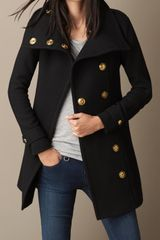 Burberry Wool Twill Blanket Wrap Coat - Lyst