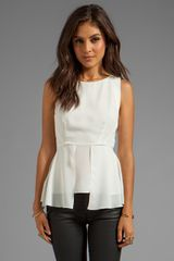 Elizabeth And James Laurence Top in Ivory - Lyst