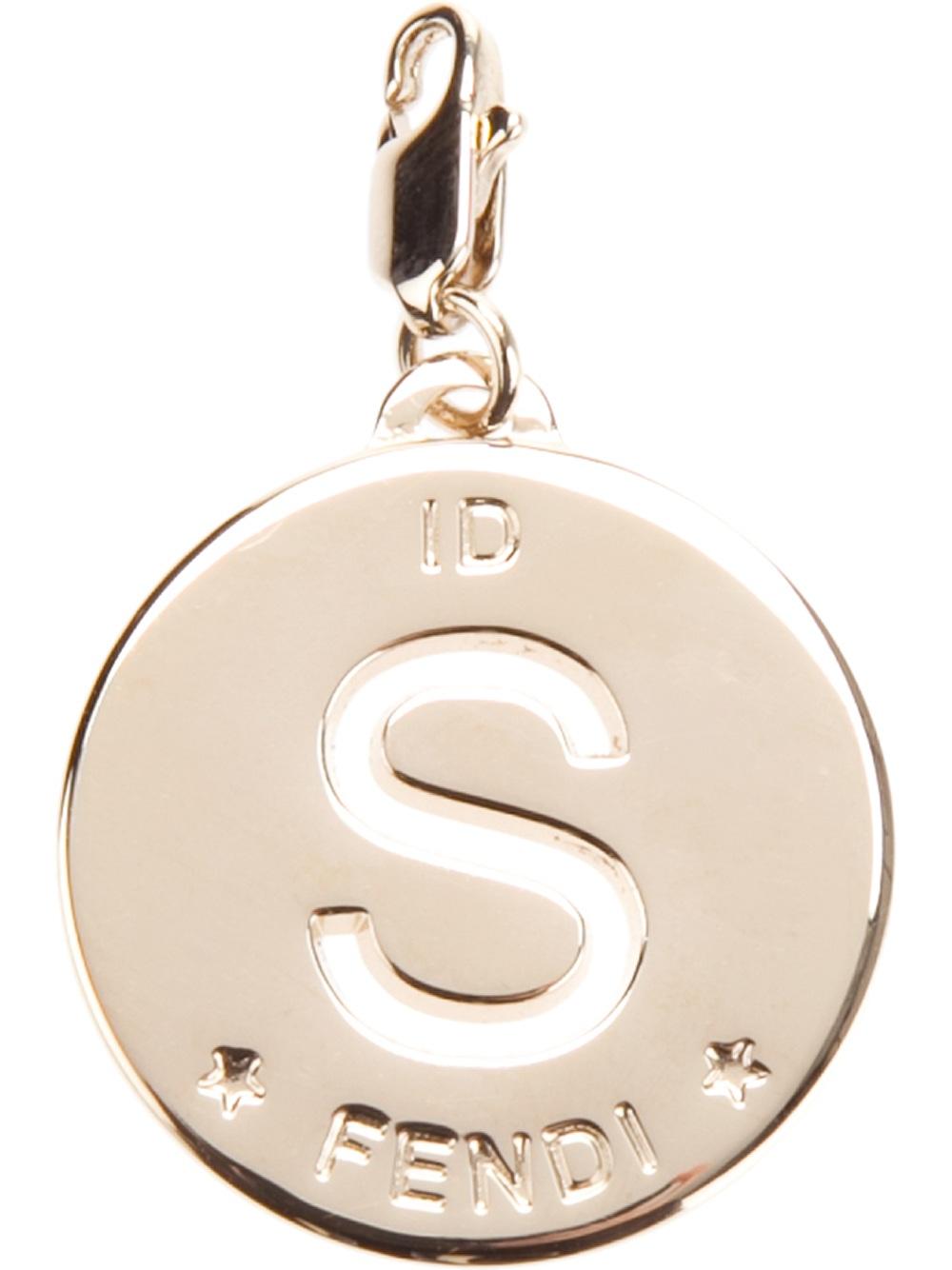 fendi letter charm With fendi necklace letter