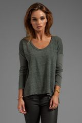 James Perse Colorblock Boxy Tee in Gray - Lyst