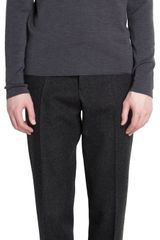 Jil Sander Contrast Mock Neck Sweater - Lyst